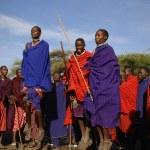 Masai warrior dance. — Stock Photo #72491999