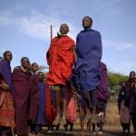 Masai warrior dance. — Stock Photo #72492049