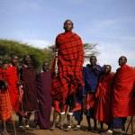 Masai warrior dance. — Stock Photo #72492081