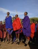 Masai warrior dance. — Stock Photo