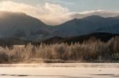 De vallei van de chilkat onder een dekking van sneeuw — Stockfoto