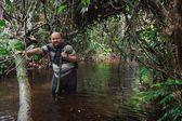 Man  in the Congo jungle — Stock Photo