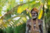 Portrait of the Asmat warrior — Stock Photo