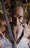 Korowai Kombai ( Kolufo) man. — Stock Photo