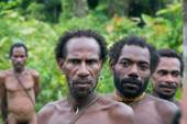 Korowai Kombai ( Kolufo) men — Stock Photo
