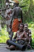 Peoples in Asmat Village — Stock Photo
