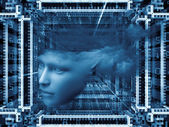 Do Androids Dream of Girls — Stock Photo