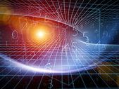 仮想のジオメトリ — ストック写真
