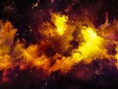 Visualization of Nebula — Stock Photo