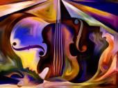 Virtuální hudební — Stock fotografie