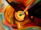 Illusies van innerlijke verf — Stockfoto