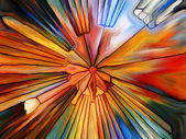 Visualization of Digital Stained Glass — Stock Photo