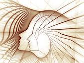 Geometria pojęciowy duszy — Zdjęcie stockowe