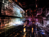 Lichten van toekomstige stad — Stockfoto