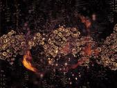 Mikrokosmos-zusammensetzung — Stockfoto