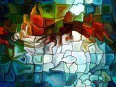 Dance of Stained Glass — Stock Photo