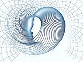 Rozwinięcie duszy geometrii — Zdjęcie stockowe