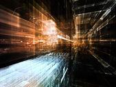 Virtual Life of City — Stock Photo