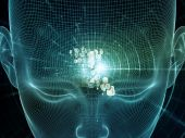Toward Digital thought — Stock Photo