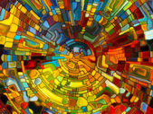 Hacia la vidriera Digital — Foto de Stock