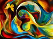 İç boya yayılması — Stok fotoğraf