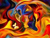 Öpücük iç boya — Stok fotoğraf