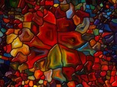Energy of Stained Glass — Foto Stock