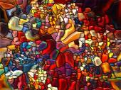 Petals of Stained Glass — Foto Stock