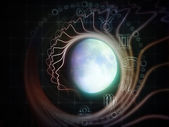 Inner Life of the Moon — Stock Photo