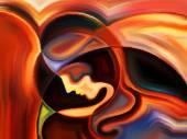 Kiss of Inner Paint — Fotografia Stock