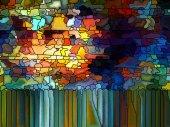 Advance of Stained Glass — Stok fotoğraf