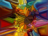 Evolving Stained Glass — Stok fotoğraf