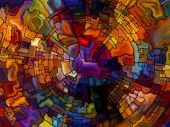 Dance of Stained Glass — Stok fotoğraf