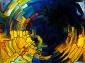 Paths of Stained Glass — Stockfoto