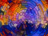 Vivid Stained Glass — Foto de Stock