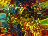 Vibrant Stained Glass — Stock Photo