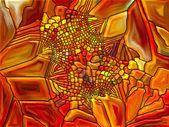 Evoluerende gebrandschilderd glas — Stockfoto