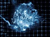 Numbers of Data Cloud — ストック写真