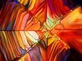 Illusions of Stained Glass — Foto de Stock