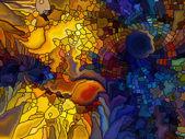 Visualisierung von digitalen Glasmalerei — Stockfoto