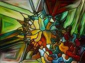 Digital Stained Glass — Stockfoto