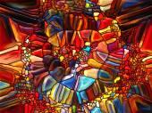 超越彩色玻璃 — 图库照片