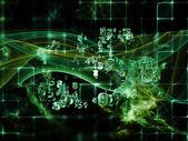 Advance of Data Cloud — Zdjęcie stockowe