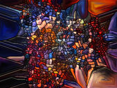 Vibrant Stained Glass — Stock fotografie