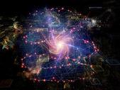 Işıklar bir veri bulut — Stok fotoğraf