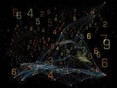 Visualization of Digital Network — Stock Photo