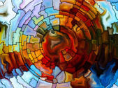 Dreaming of Stained Glass — Stock Photo