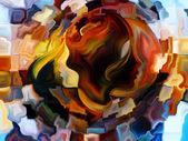 Layers of Inner Paint — Fotografia Stock