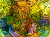 Stained Glass Composition — Photo