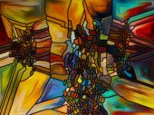 Digital Stained Glass — Stock Photo